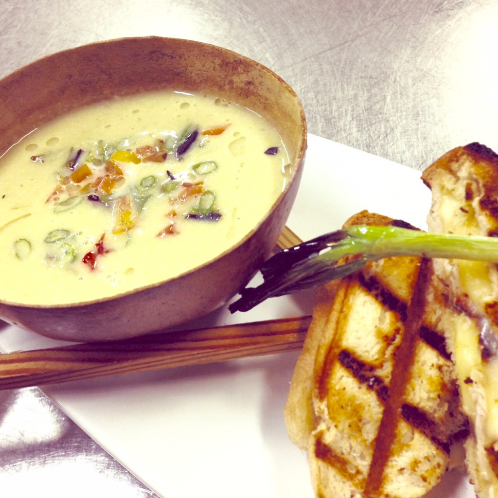 Chowder & Grilled Cheese Sandwiches