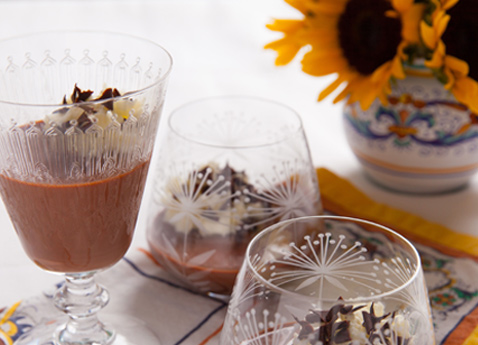 Chocolate Hazelnut Panna Cotta